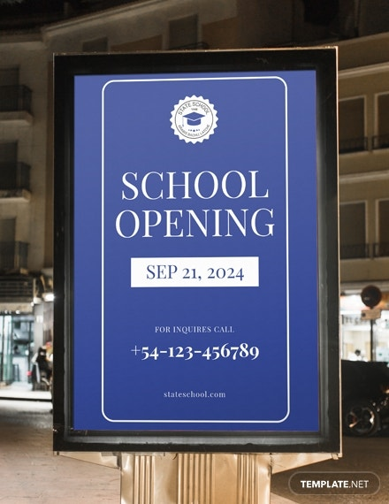 school opening digital signage template in psd