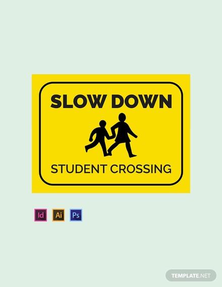 school sign template in illustrator