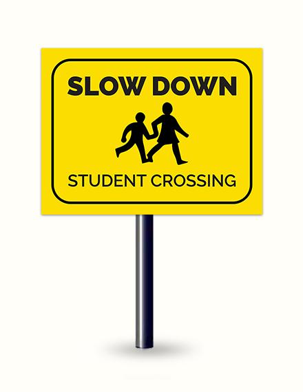 School Sign Template