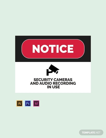 security sign template in illustrator