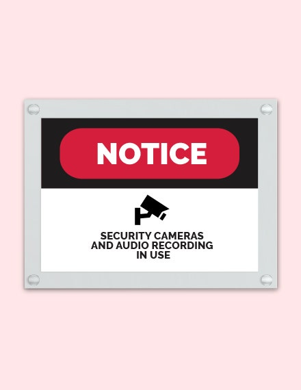 Security Sign Template