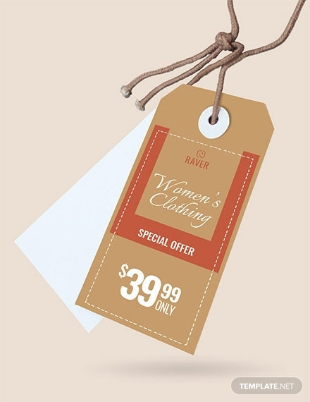 shopping tag template in psd
