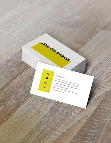 simple business card illustrator template