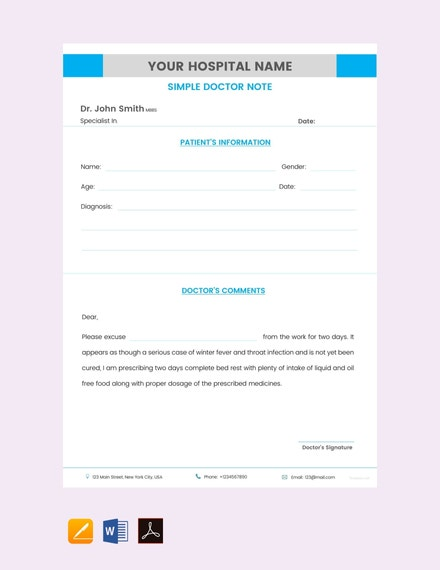 simple doctor note template1