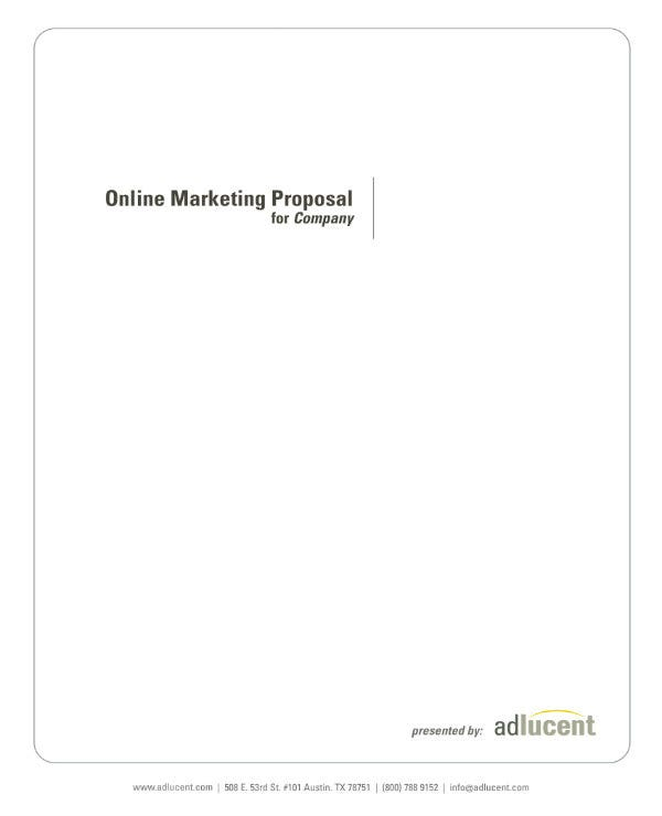 simple email marketing project proposal 01
