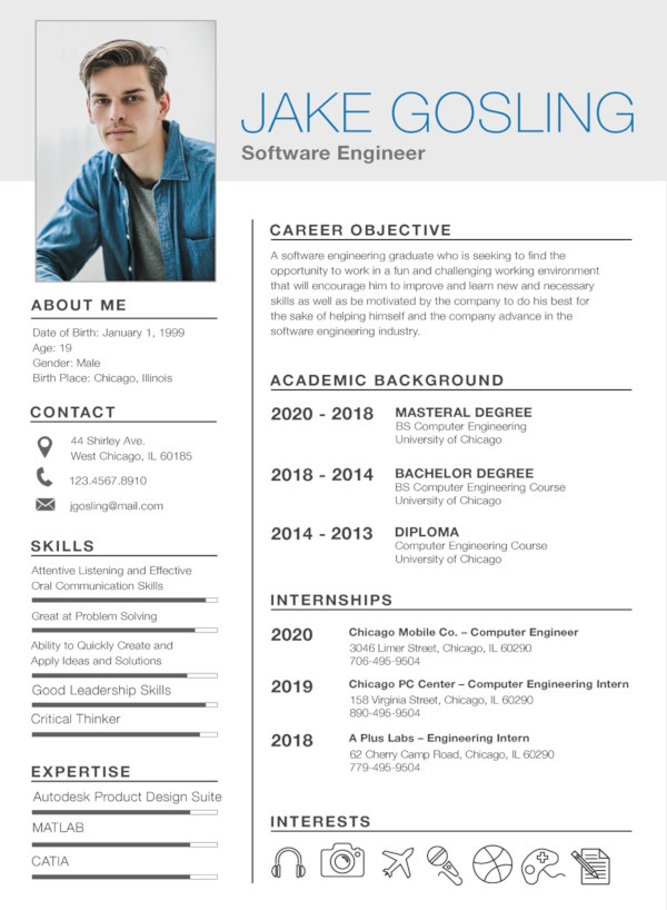 simple fresher resume template1