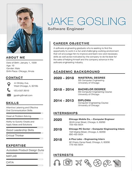 simple fresher resume template2