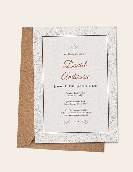 simple funeral invitation template