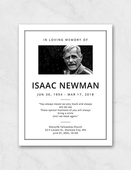 simple funeral program template