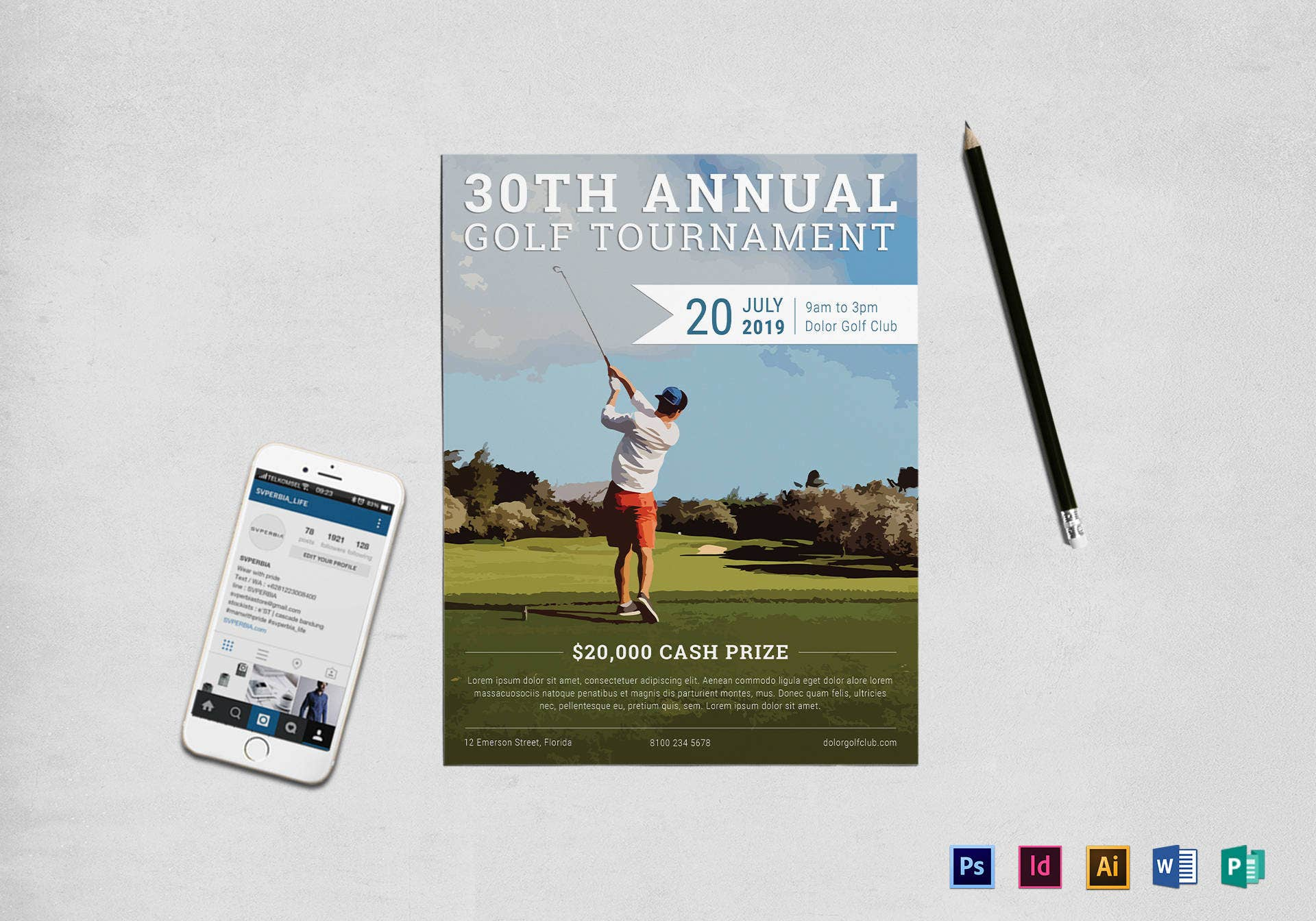 10  annual golf tournament flyer designs  u0026 templates