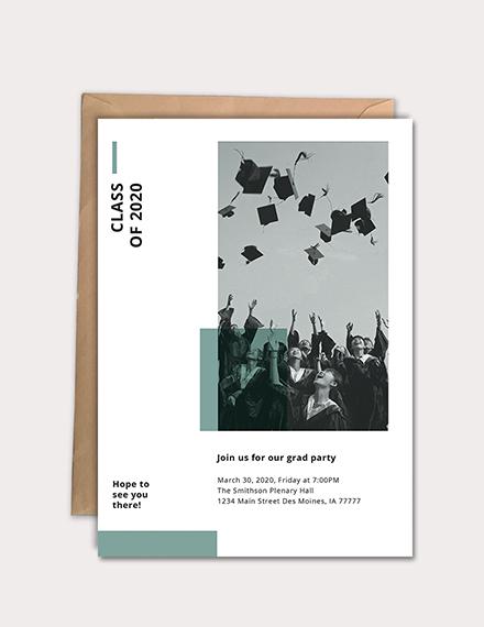 simple graduation party invitation design
