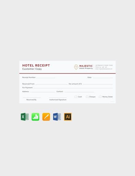 simple hotel receipt template