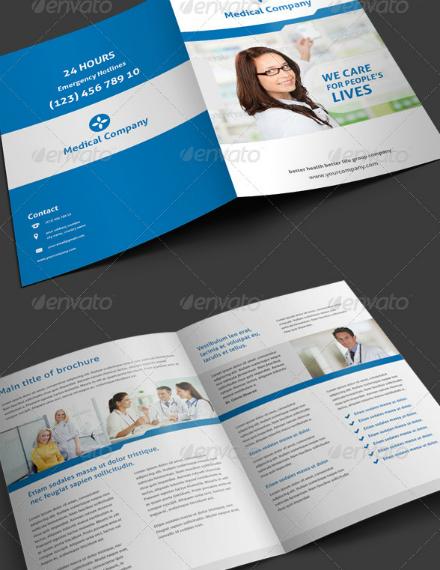 simple medical bifold brochure example