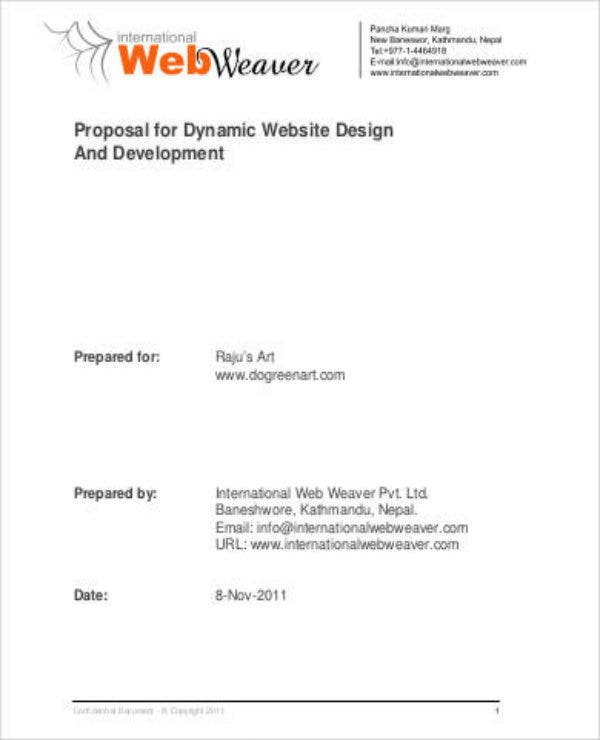 simple web development project proposal