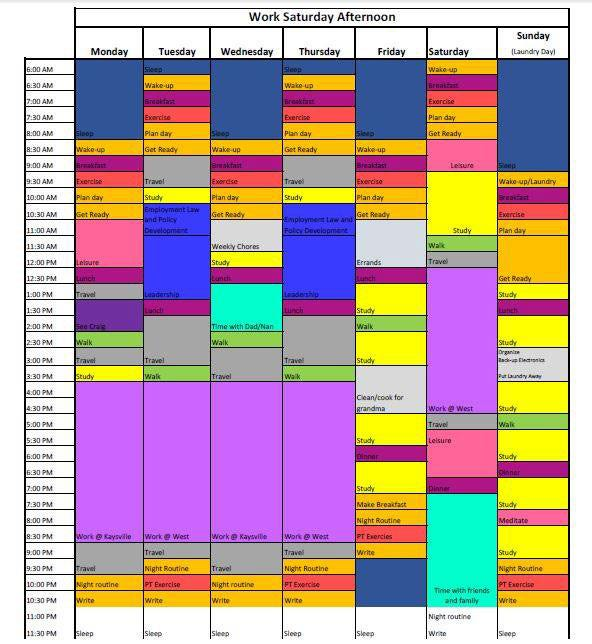 simply weekly schedule template