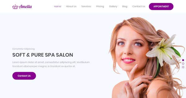 Spa and Beauty Salon Website Template
