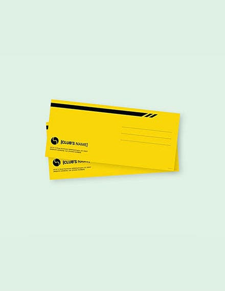 sports envelope psd template