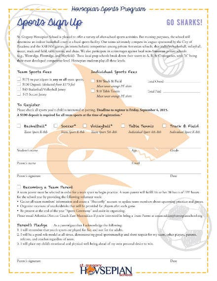 sports signup sheet 1