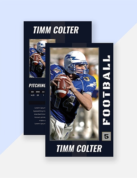 sports trading card psd template