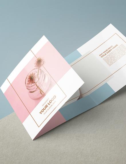 square multipurpose trifold brochure design