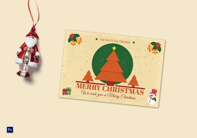 star christmas tree greeting card psd template 788x552