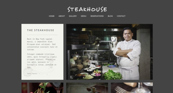 steakhouse responsive restaurant template