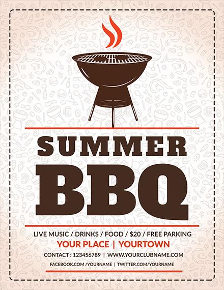 summer weekend bbq flyer sample