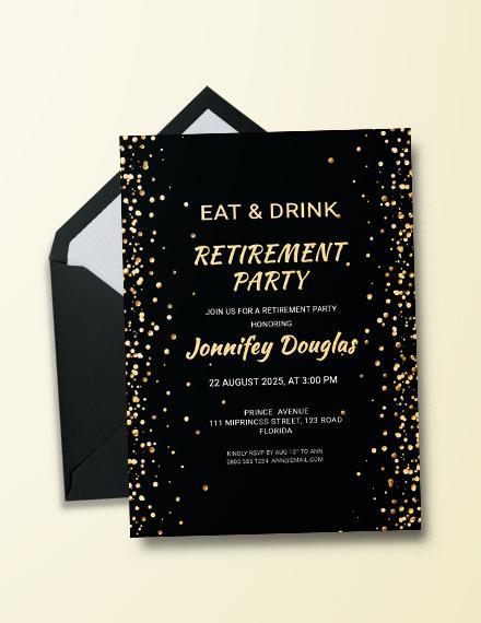 surprise retirement party invitation