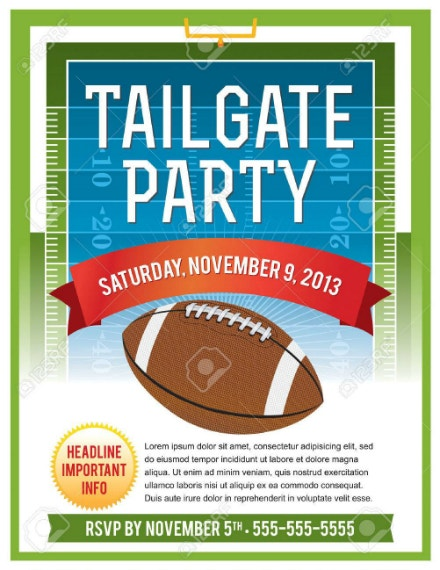 Tailgate Party Sports Invitation Sample