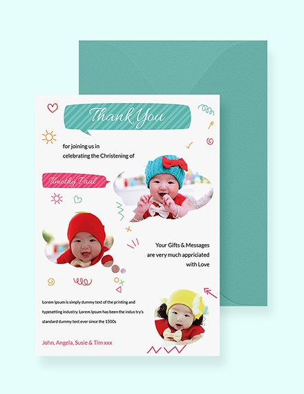 thank you card psd template