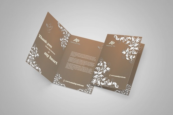 thank you invitation card template