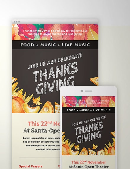Thanksgiving Email Template