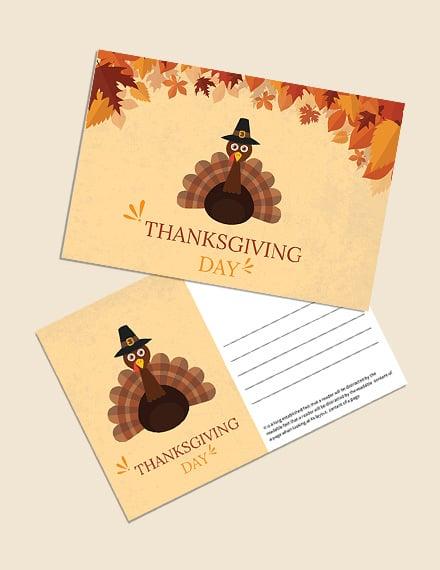 Thanksgiving Postcard Invitation
