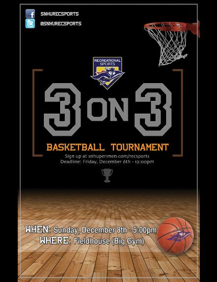 three on three basketball flyer sample