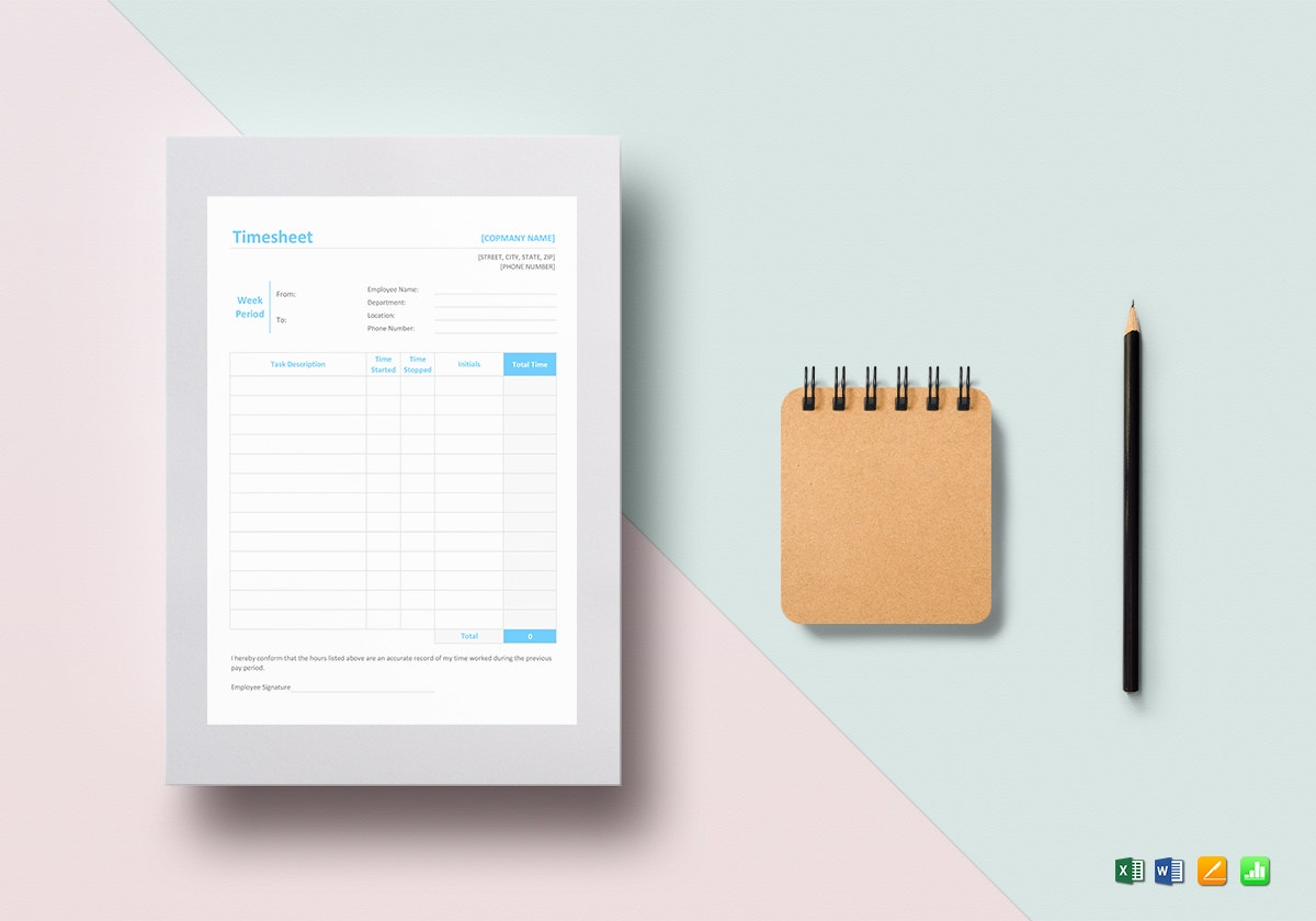 timesheet template
