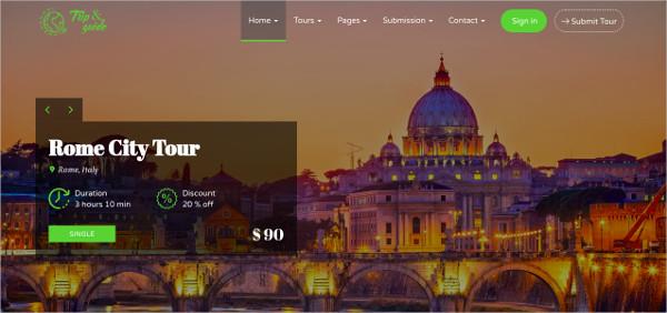 tour travel agency wordpress theme