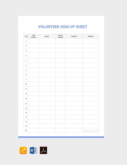 training sign in sheet