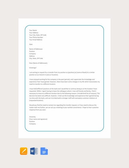 12+ Employee Transfer Letter Templates - PDF, DOC | Free