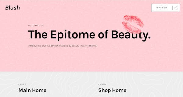 Trendy Beauty and Lifestyle Theme