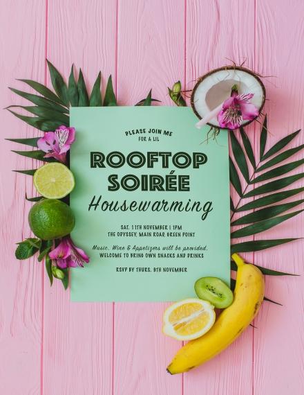Tropical Housewarming Invitation Template