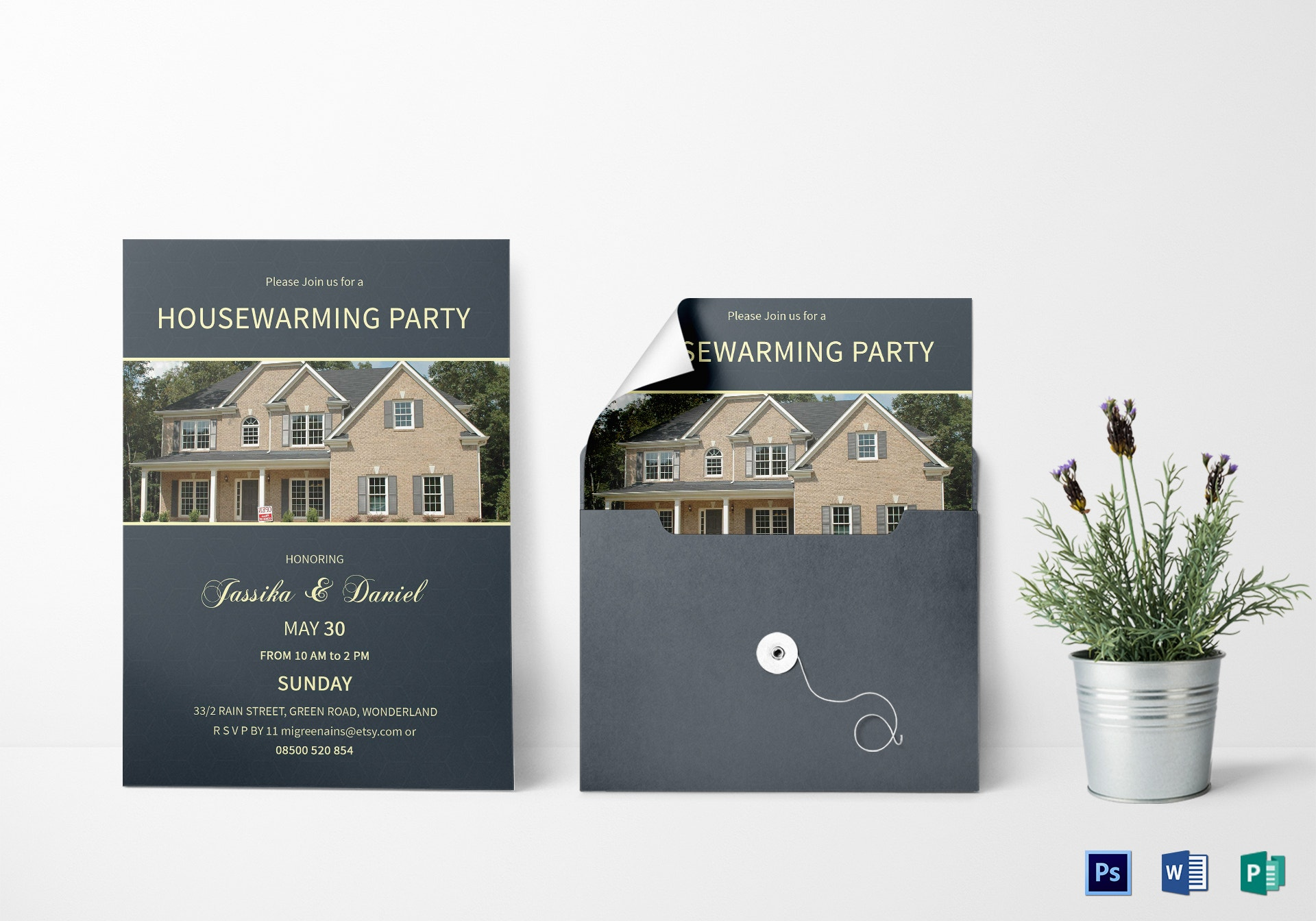 unique housewarming invitation template