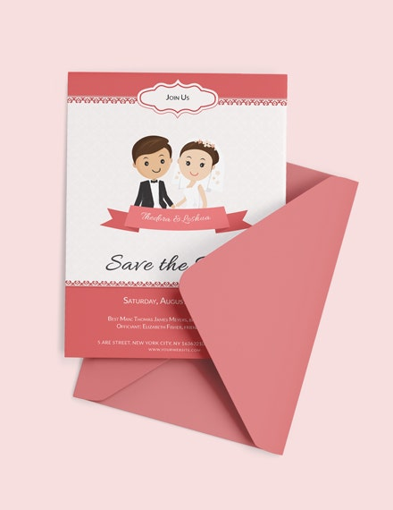 unique wedding invitation card psd template