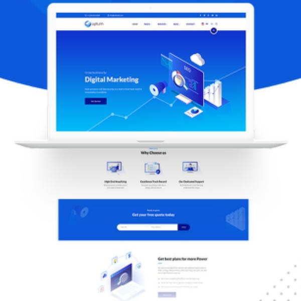 Upturn Marketing Agency Website Design