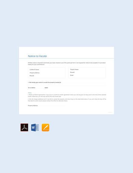 vacate-notice-template