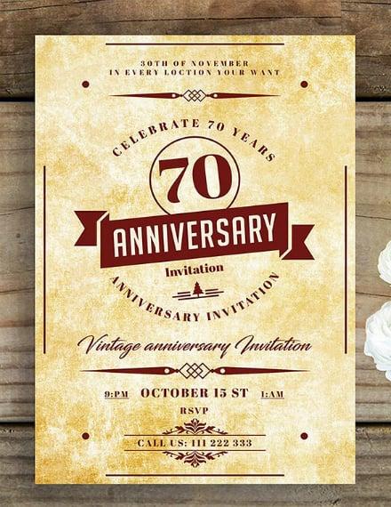 vintage rustic anniversary invitation design