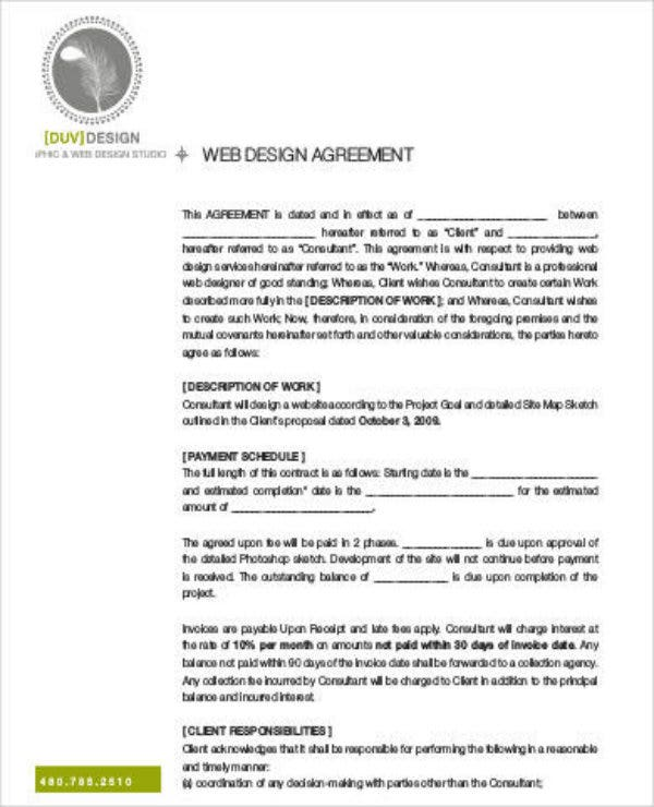 web development project proposal agreement
