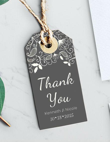 Wedding Favor Label PSD Template