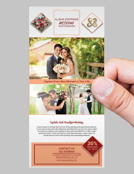 wedding photography rack card sample