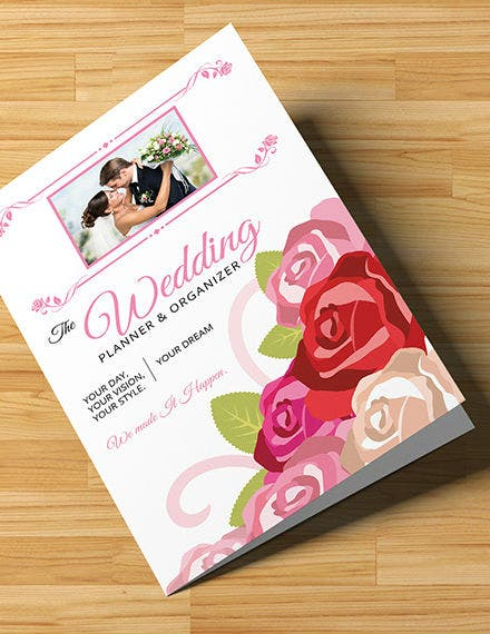 wedding planner bi fold brochure