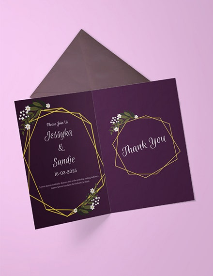 wedding thank you invitation template